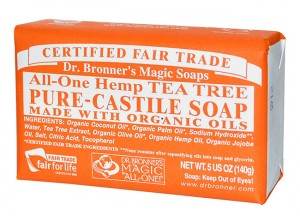 Dr. Bronner's Pure-Castile Tea Tree Bar Soap
